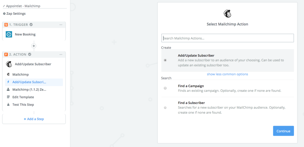 Mailchimp for inviting leads to sales demos