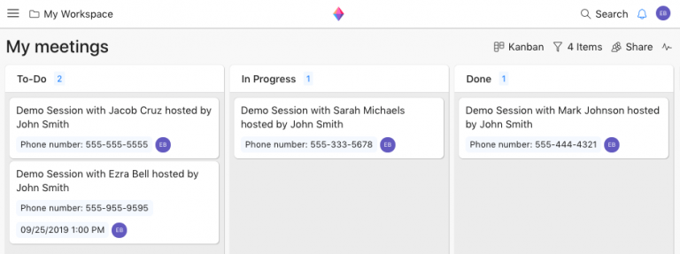 capture meeting notes in a crm