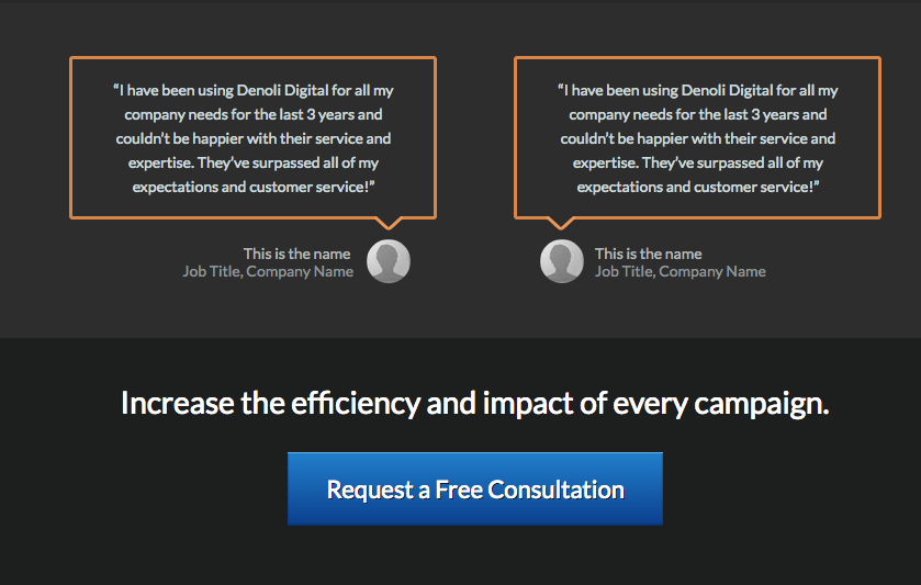 Reintroducing the call to action button at the bottom of the page