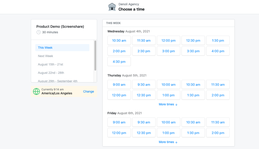 Appointlet - scheduling tool